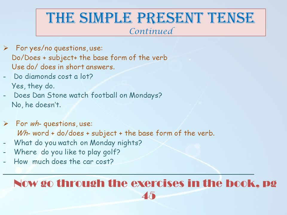 Simple Present Wh Questions Exercises With Answers ✓ Land