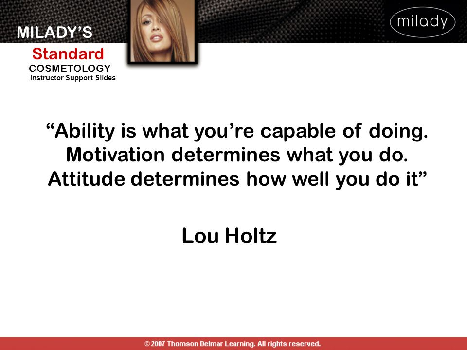 Ability is what you're capable of doing