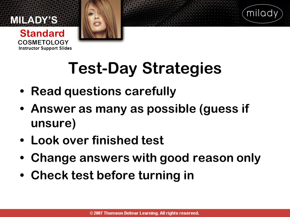 Test-Day Strategies Read questions carefully