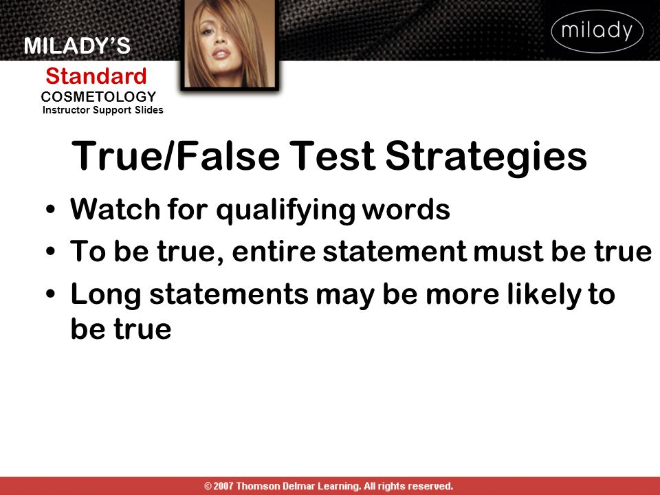 True/False Test Strategies