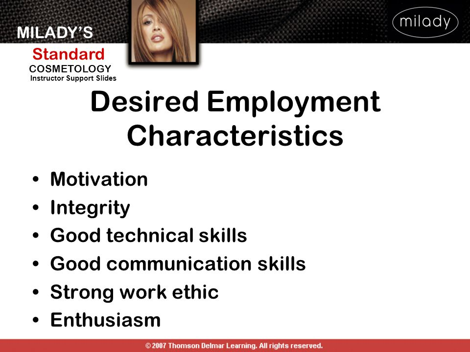 Desired Employment Characteristics