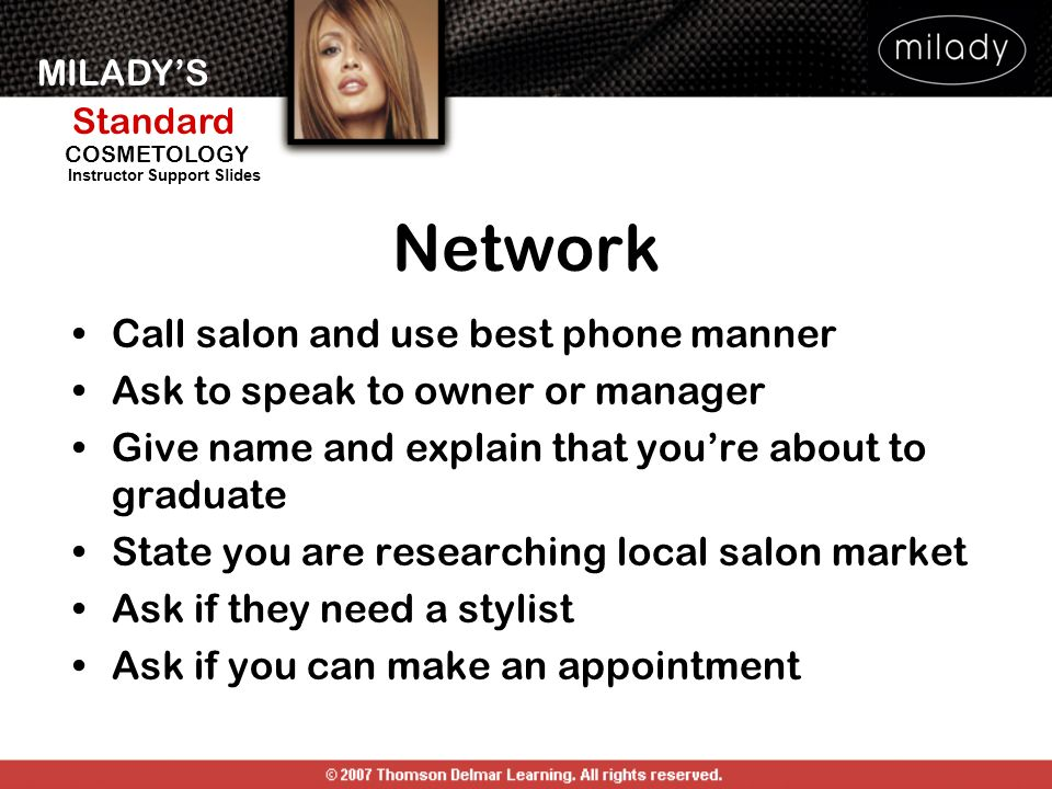 Network Call salon and use best phone manner