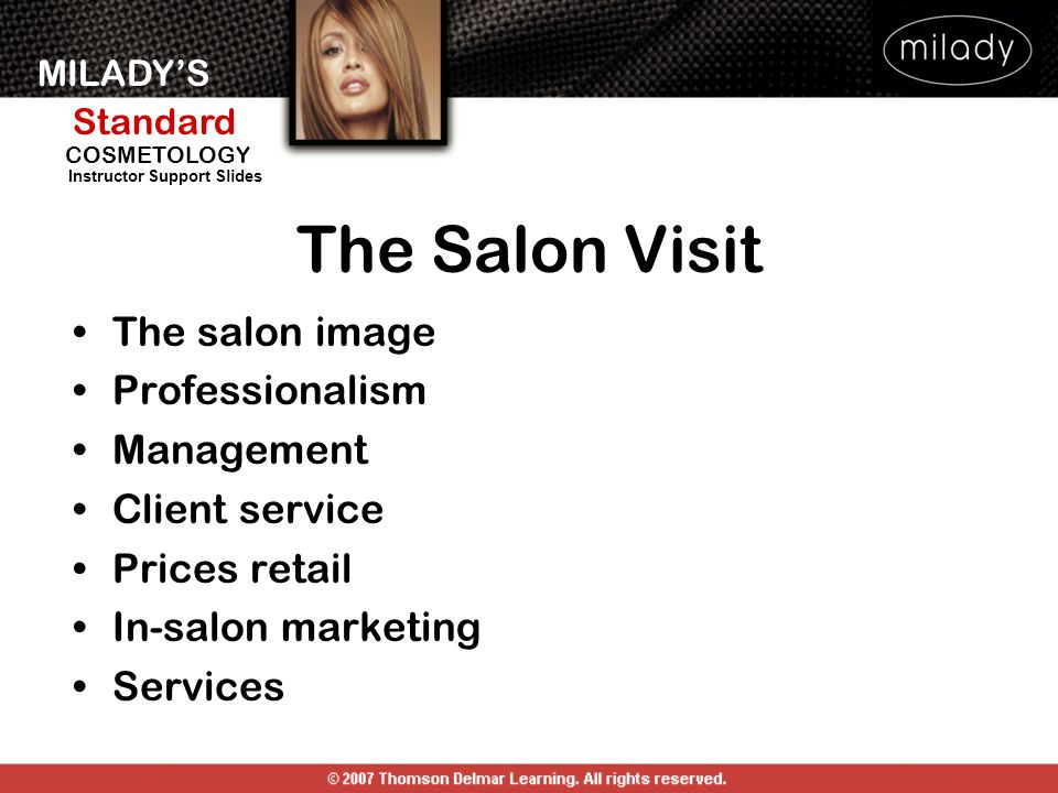 The Salon Visit The salon image Professionalism Management
