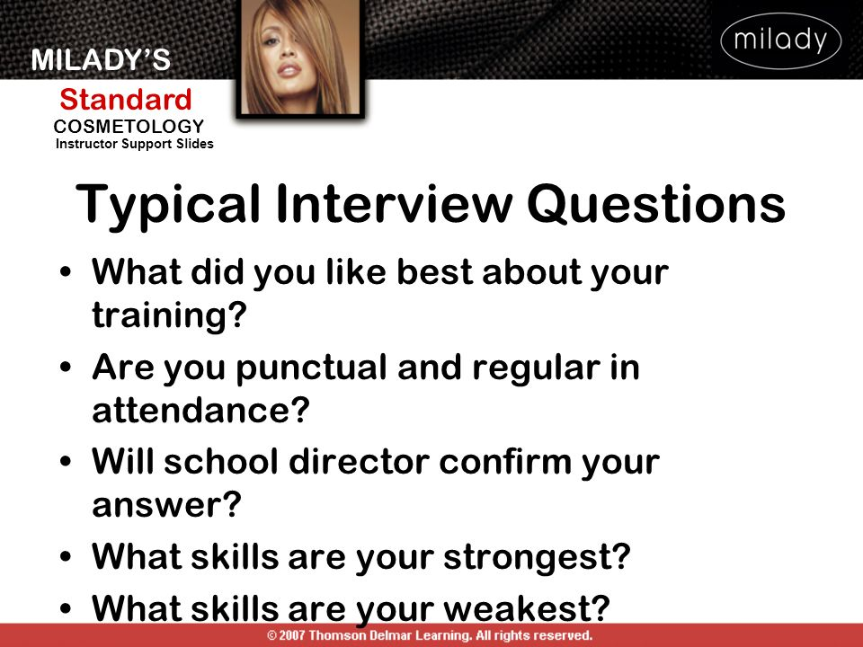 Typical Interview Questions