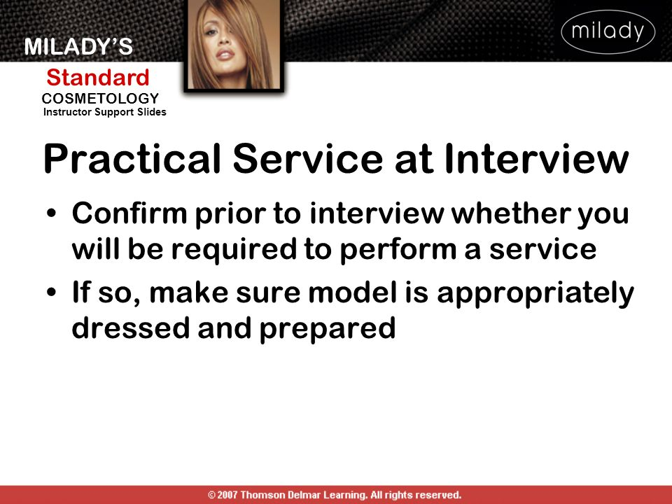 Practical Service at Interview