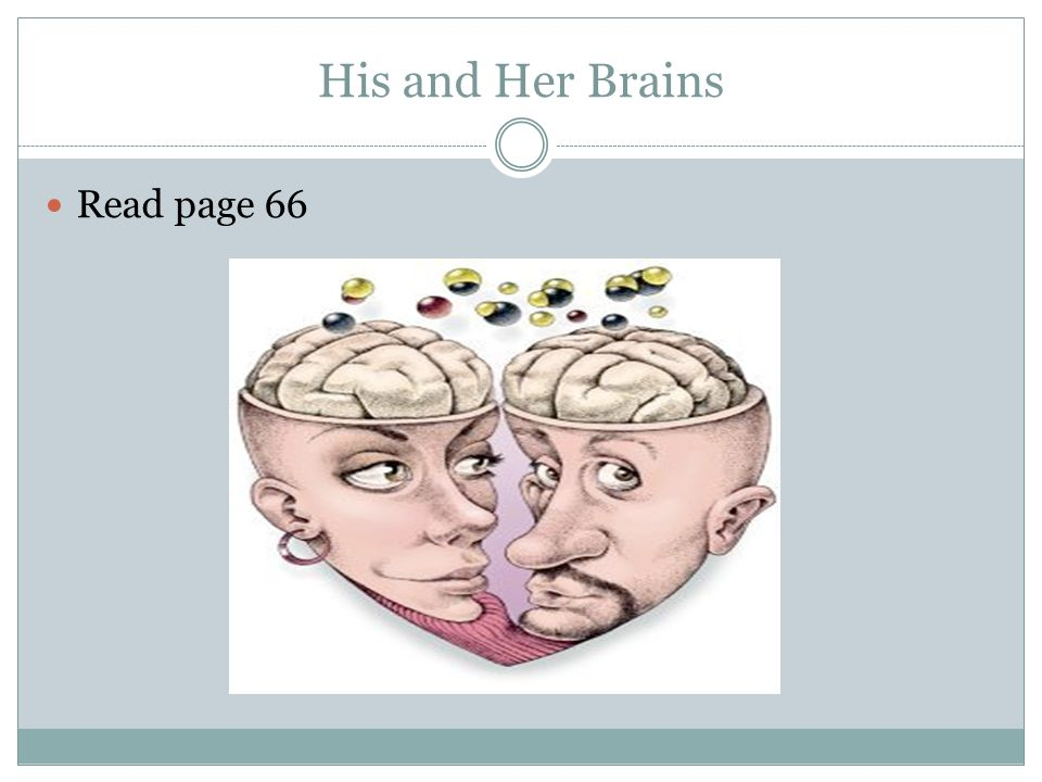 His and Her Brains Read page 66
