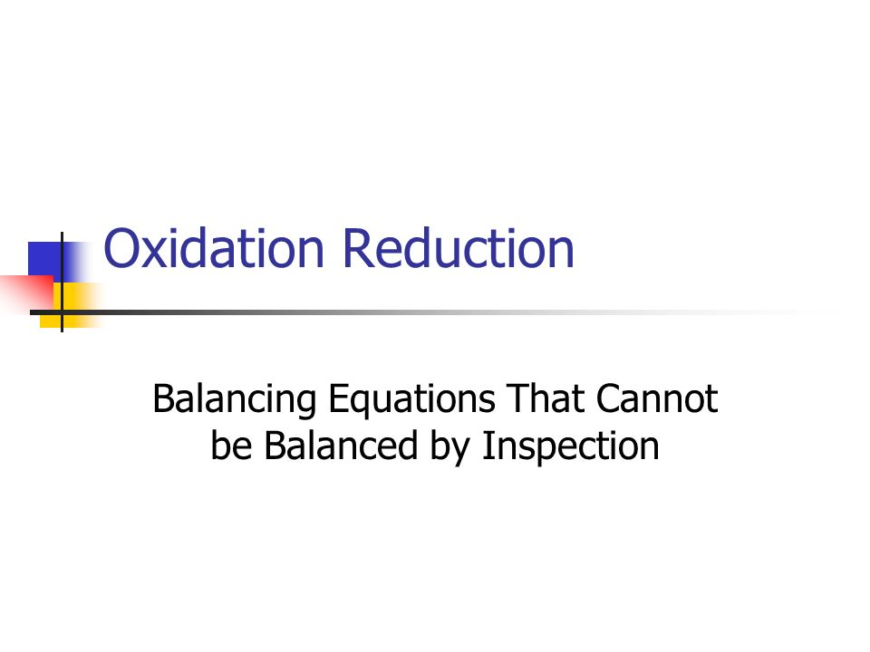 Balancing Equations That Cannot be Balanced by Inspection