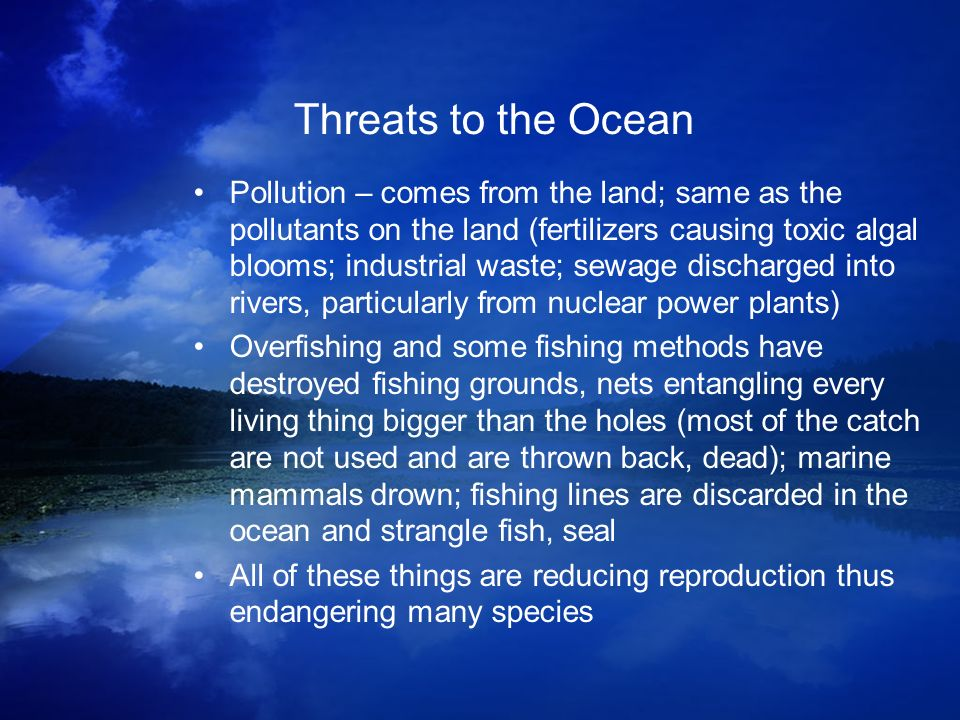 Threats to the Ocean