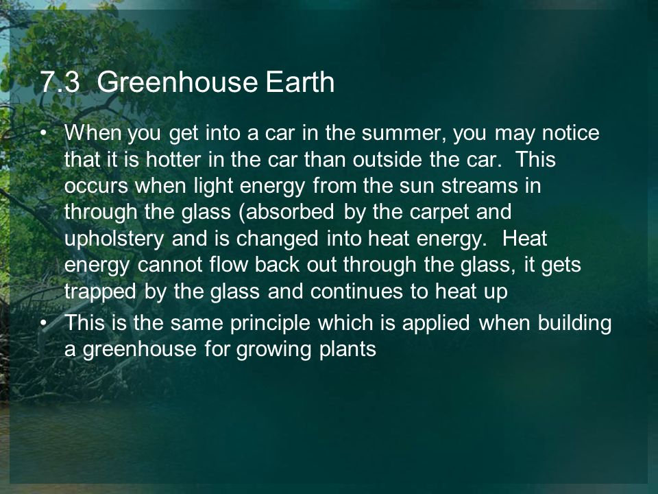 7.3 Greenhouse Earth