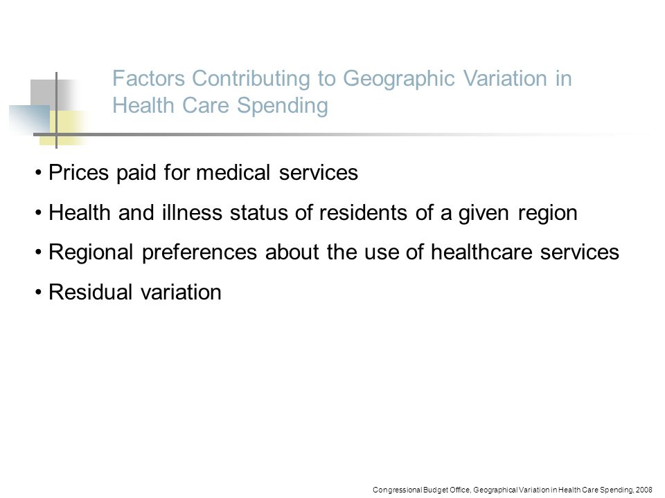 Factors Contributing to Geographic Variation in Health Care Spending