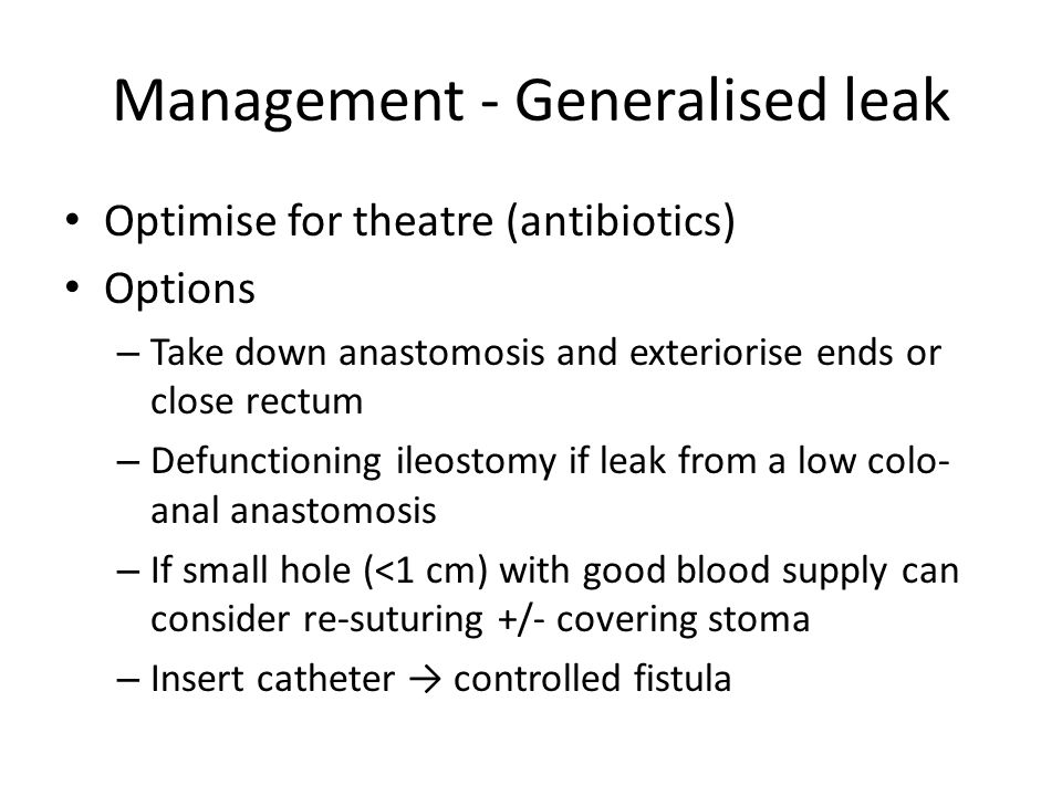 Anastomotic Leak Lower Gi Ppt Video Online Download