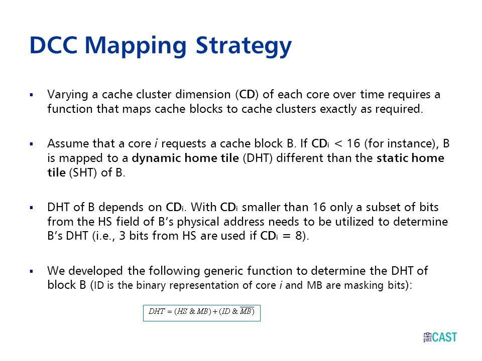 DCC Mapping Strategy