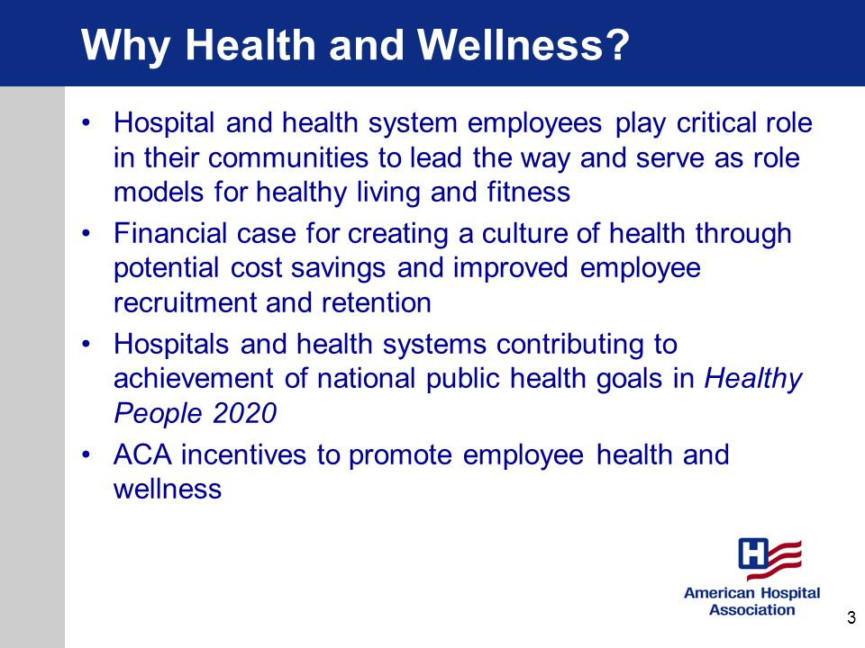 Why Health and Wellness