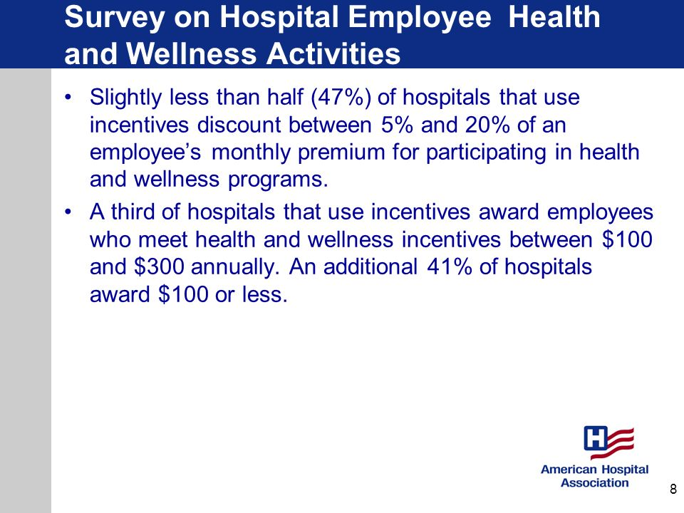 Survey on Hospital Employee Health and Wellness Activities