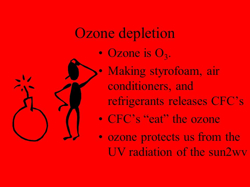 Ozone depletion Ozone is O3.