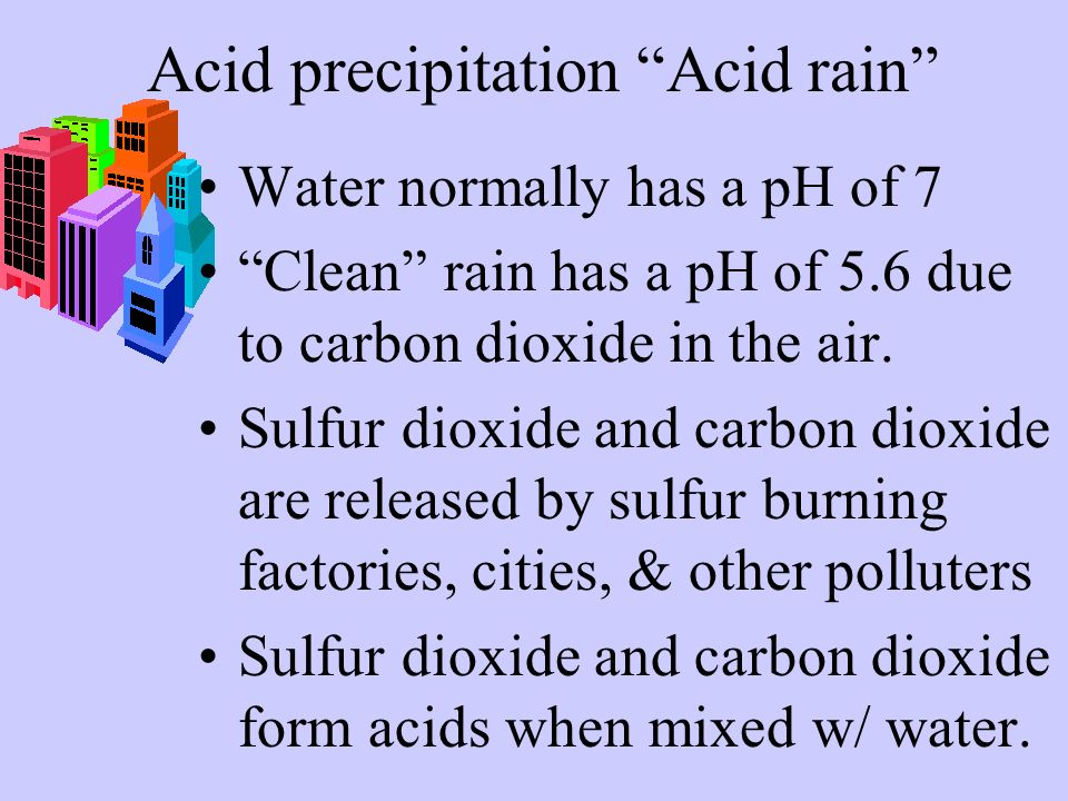 Acid precipitation Acid rain