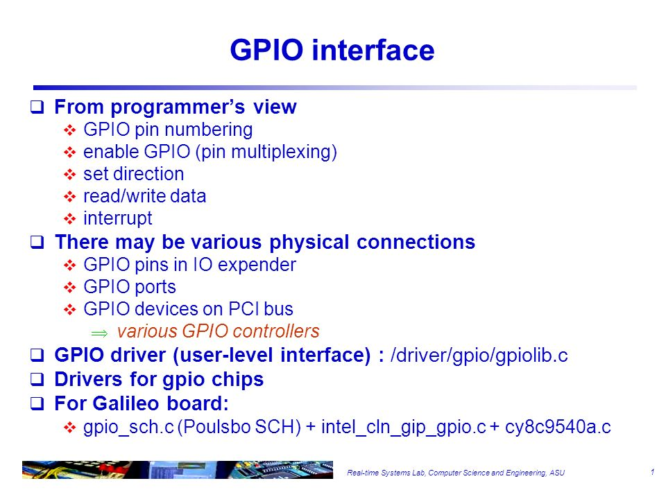 GPIO interface From programmer's view - ppt video online download