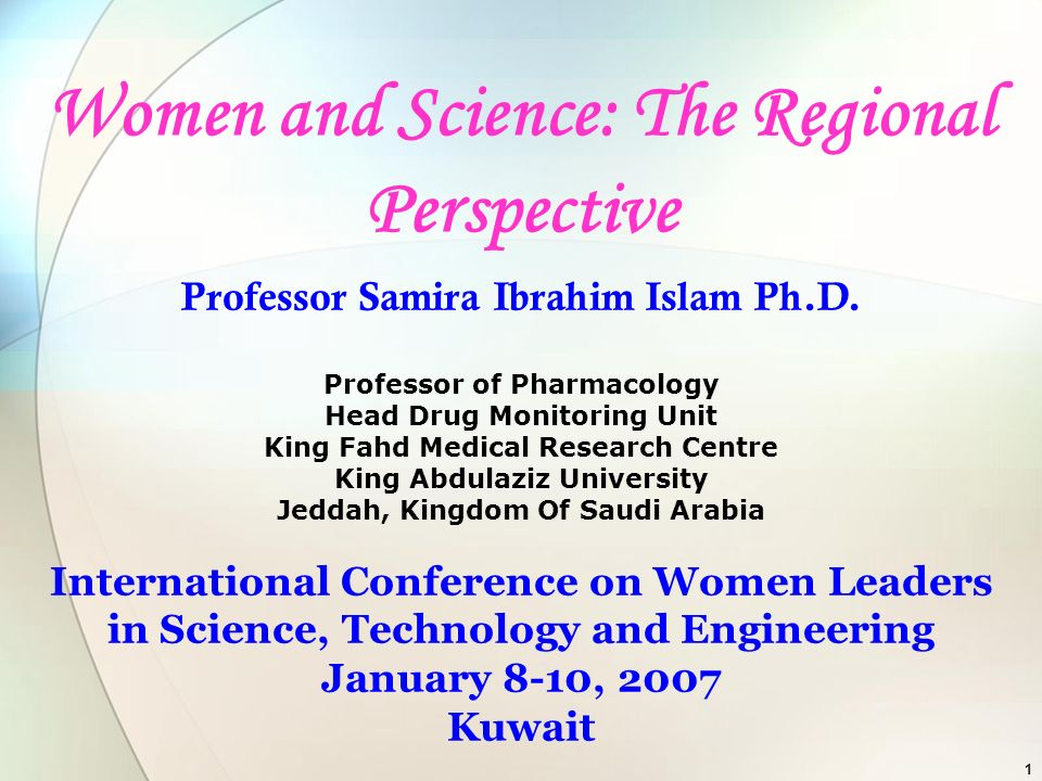Women and Science: The Regional Perspective