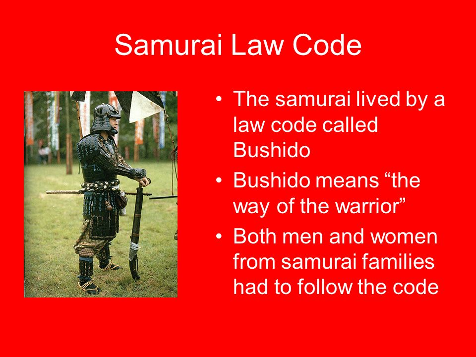5 Samurai Law Code