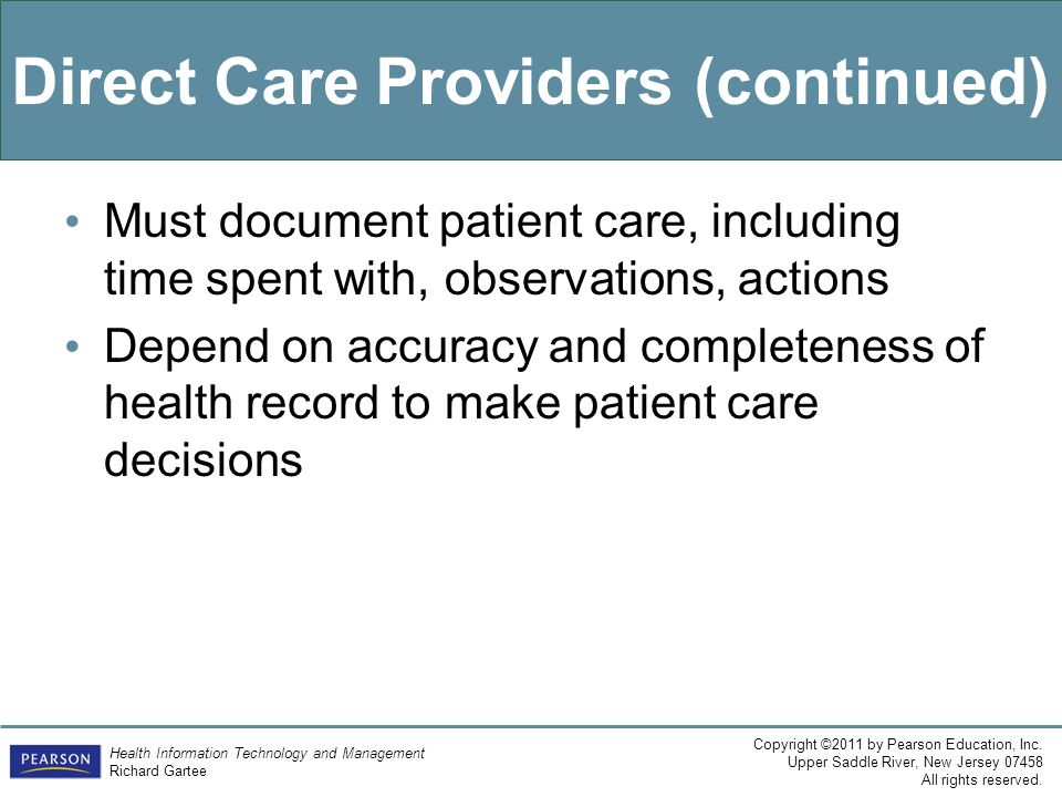 Direct Care Providers (continued)