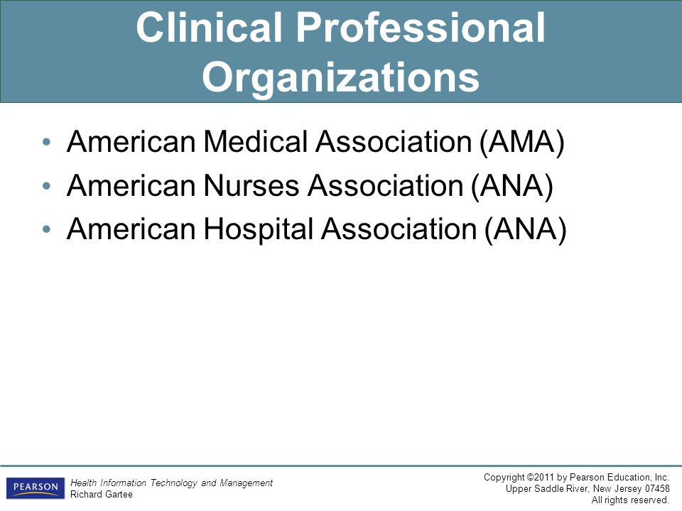 Clinical Professional Organizations