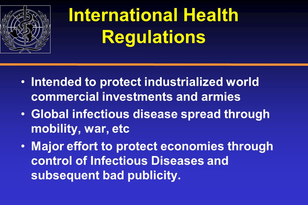 International Health Regulations