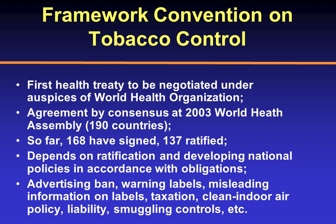 Framework Convention on Tobacco Control