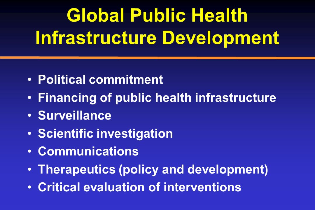 Global Public Health Infrastructure Development