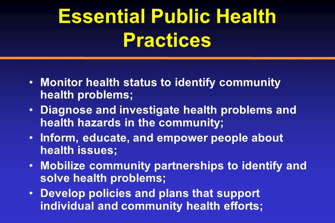 Essential Public Health Practices