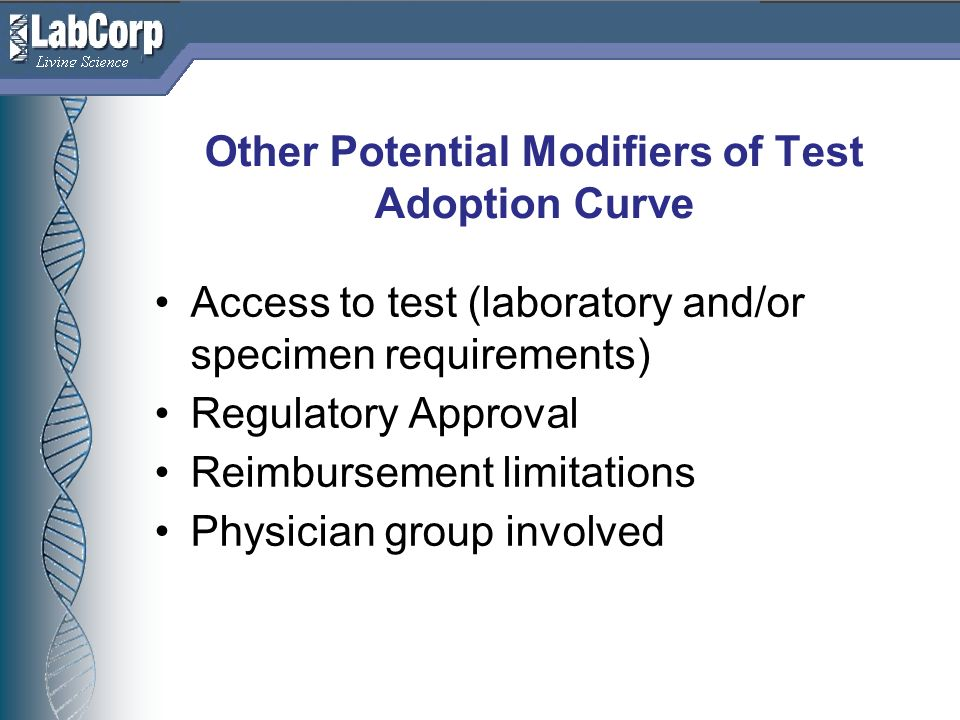 Other Potential Modifiers of Test Adoption Curve