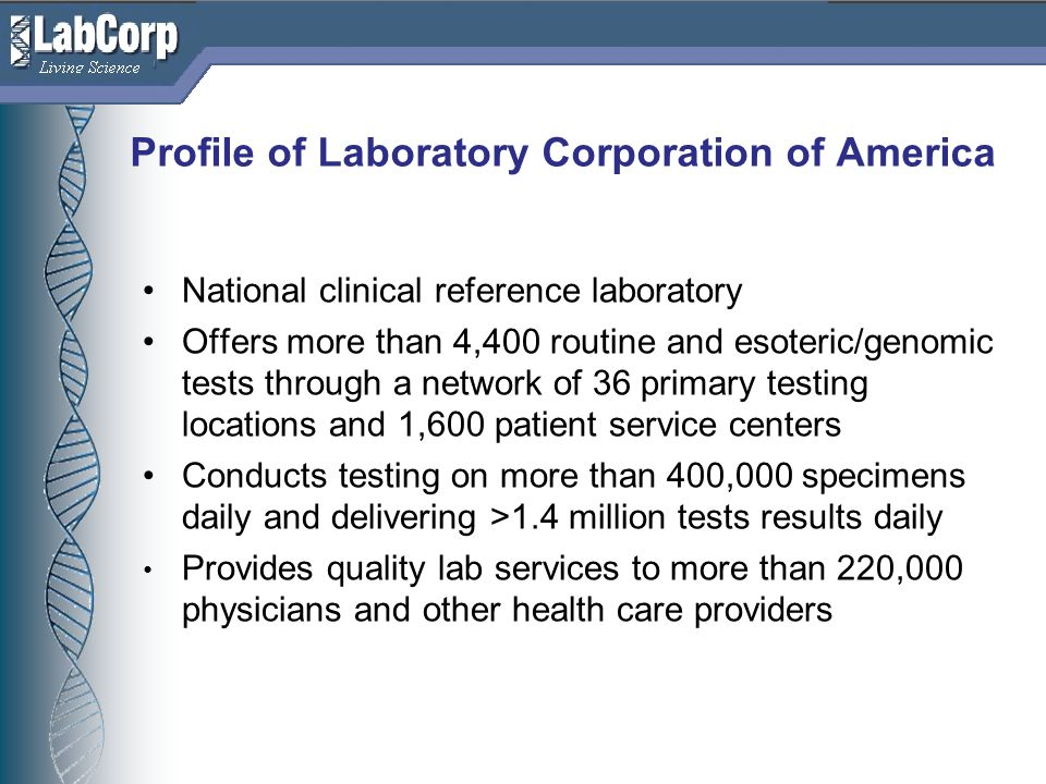 Profile of Laboratory Corporation of America