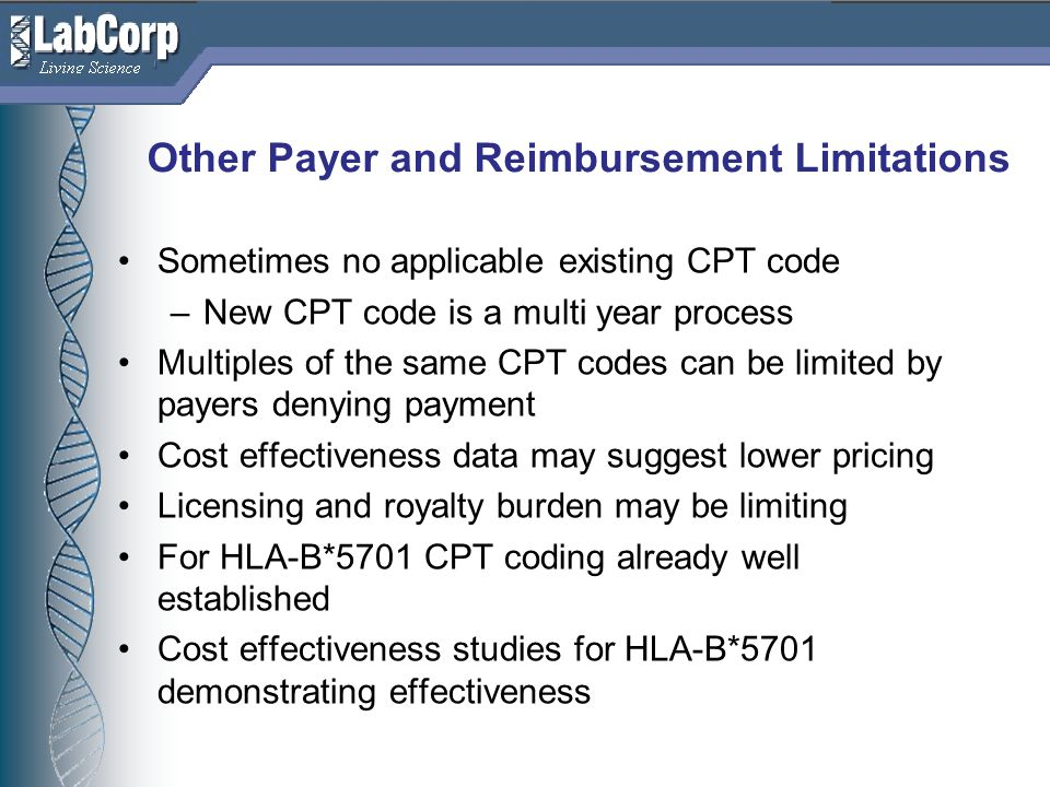 Other Payer and Reimbursement Limitations