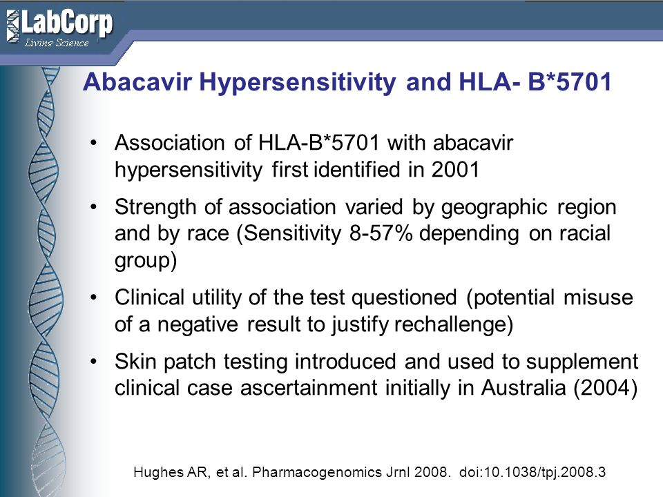 Abacavir Hypersensitivity and HLA- B*5701