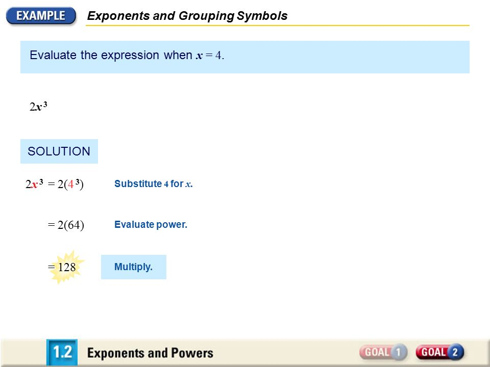 Exponents and Grouping Symbols