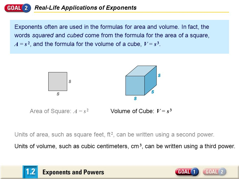 Real-Life Applications of Exponents