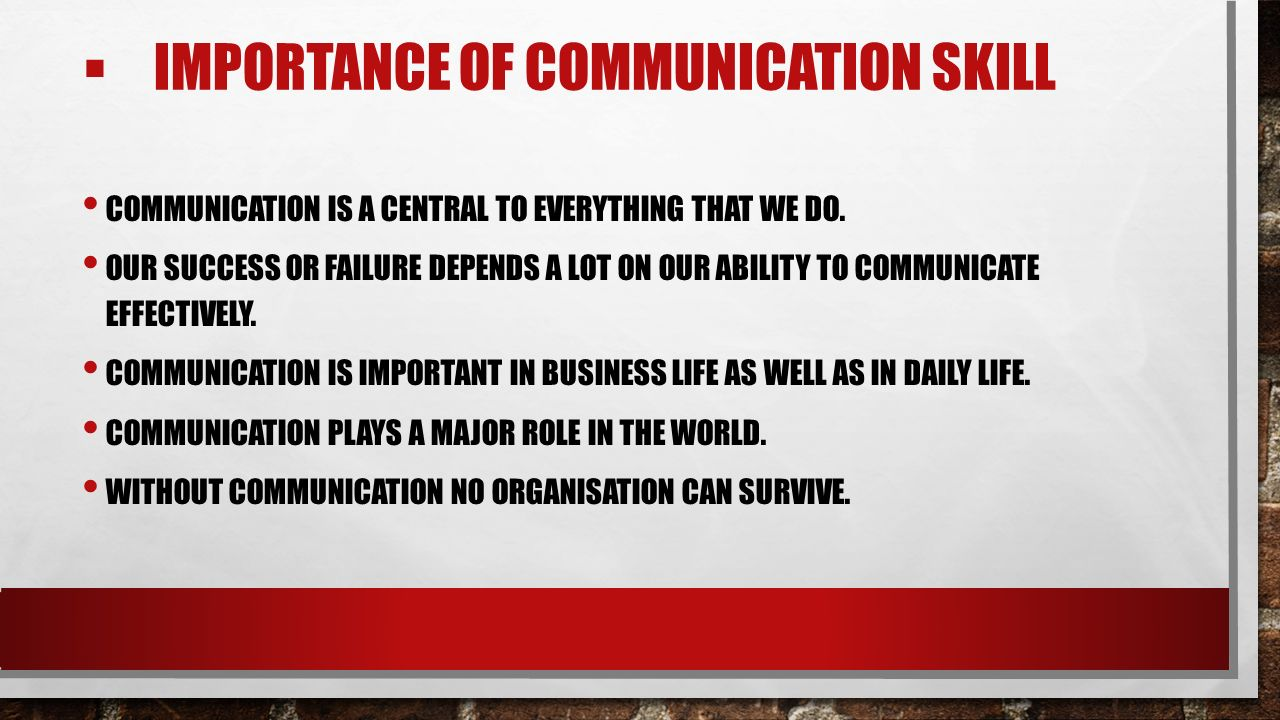 importance of communication in daily life