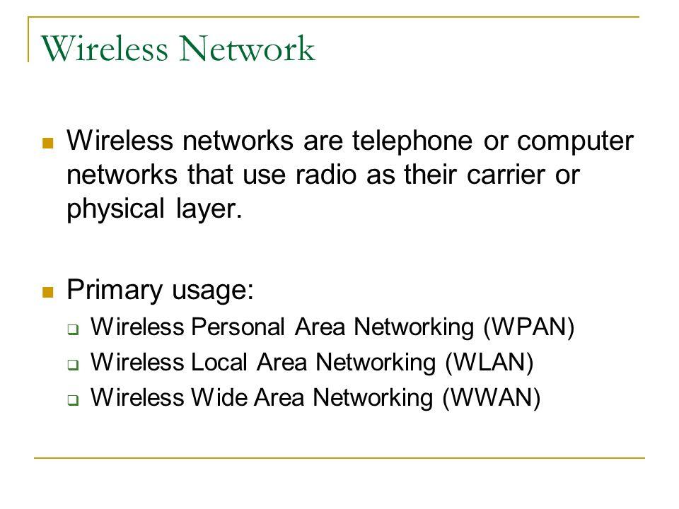 Wireless network presentation