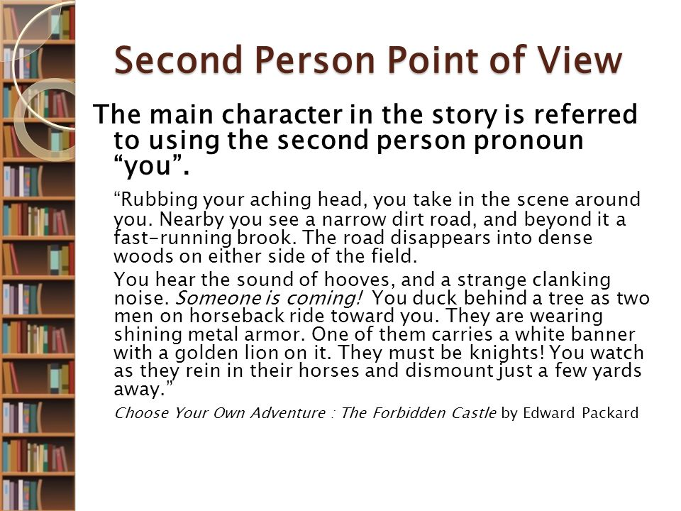 what is 2nd person point of view in literature