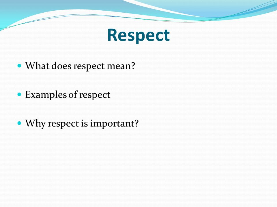 Examples Of Respect Gallery Example Cover Letter For Resume
