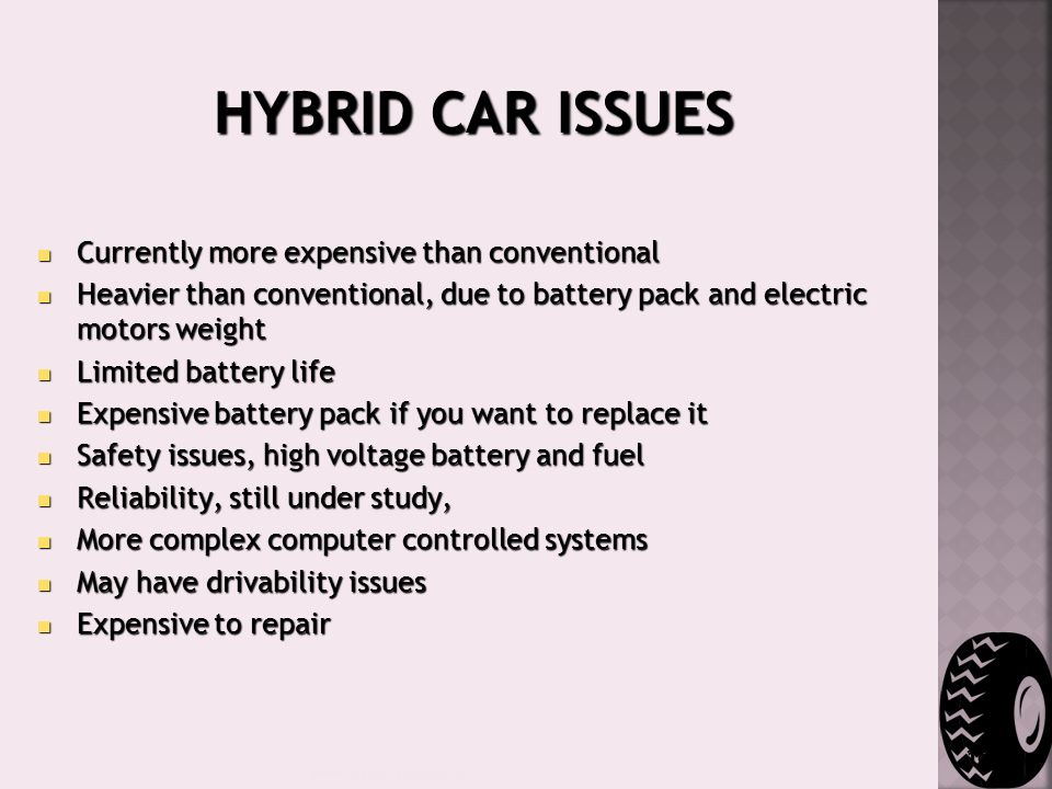 18 Hybrid Car Issues Curly More Expensive Than Conventional