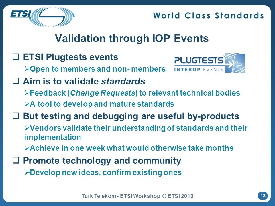 Validation through IOP Events