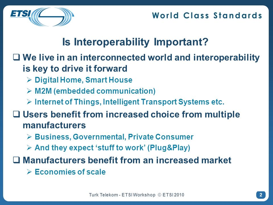 Is Interoperability Important