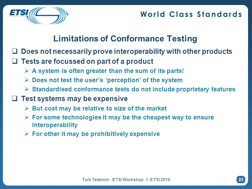 Limitations of Conformance Testing