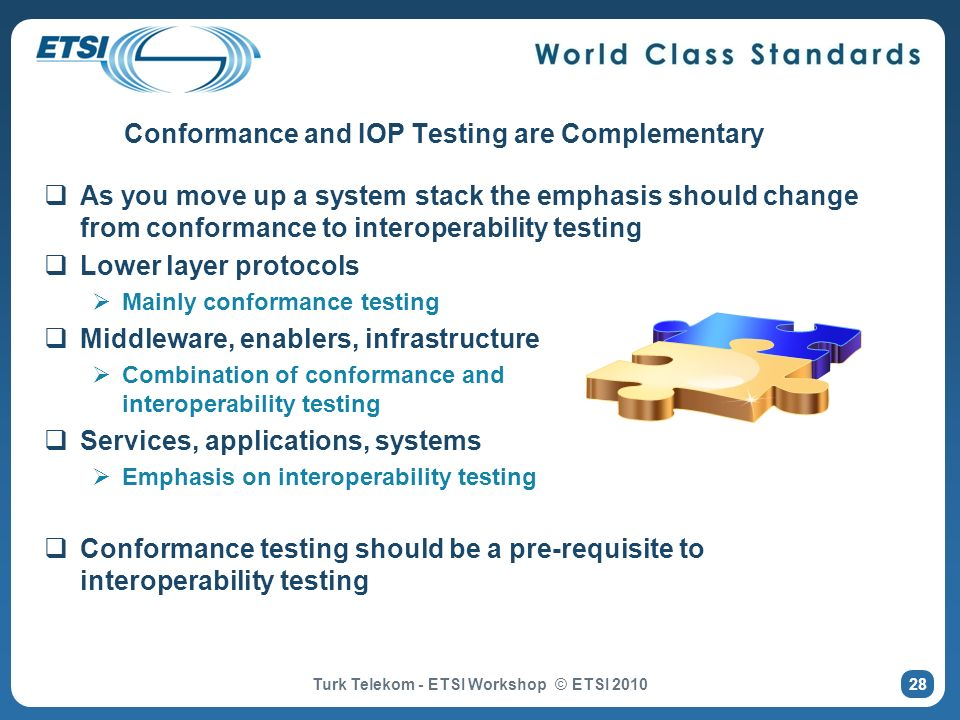 Conformance and IOP Testing are Complementary