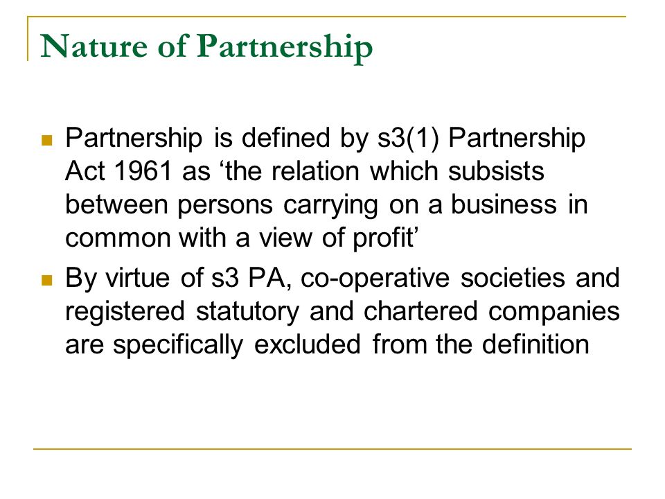 Business Law Chapter 11 Partnership Ppt Video Online Download