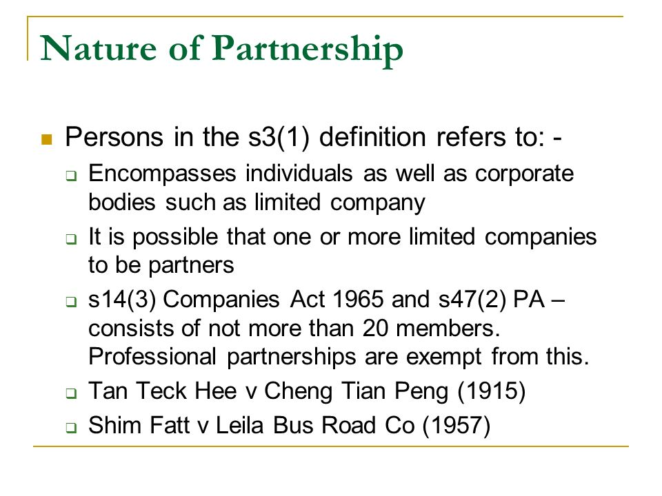What is a partnership firm and 5 essential elements of a partnership.