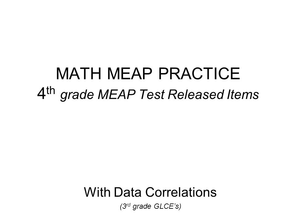 meap practice test 2013 4th grade