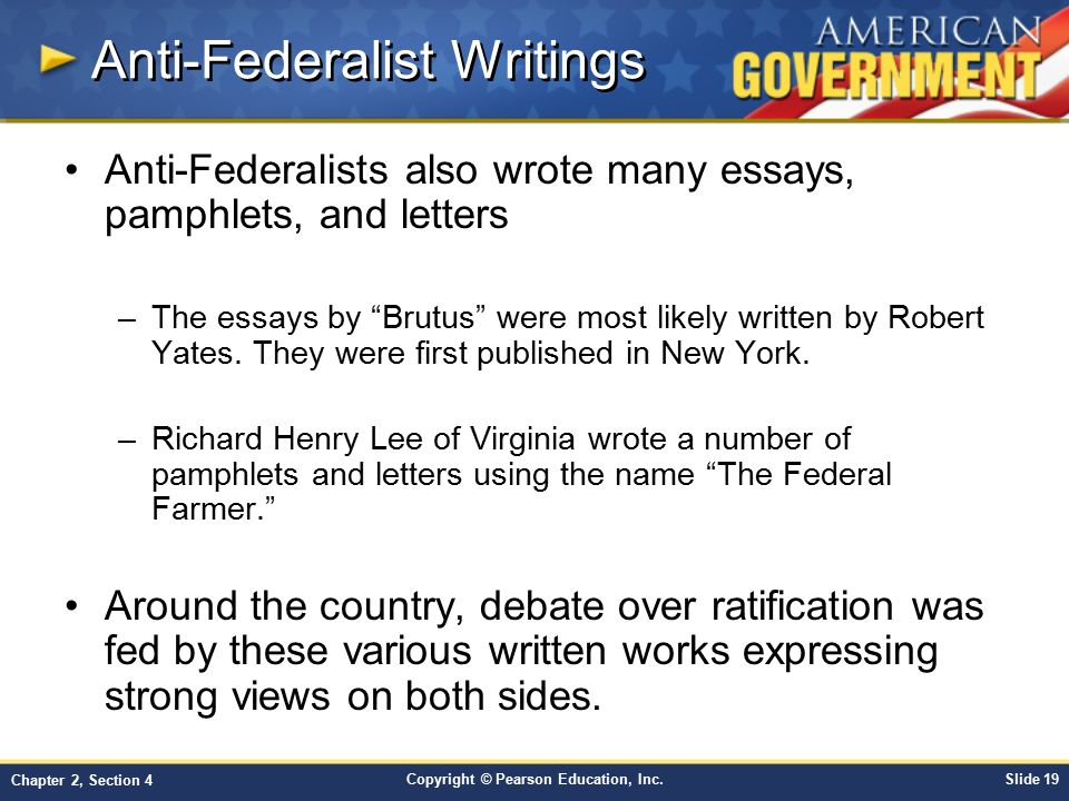 Anti-Federalist Writings