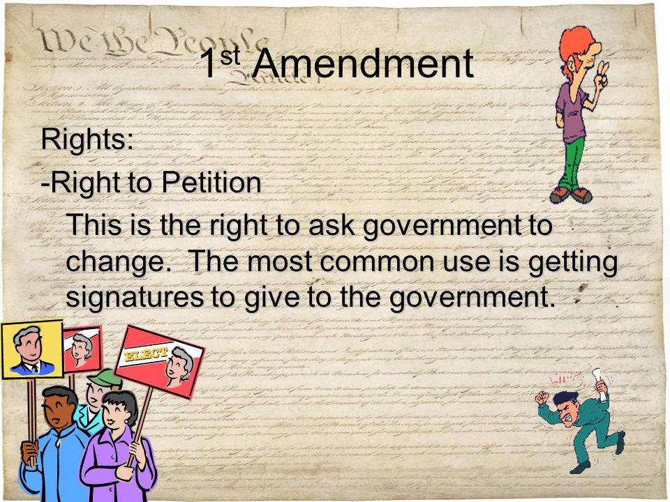 right to petition amendment bill of rights ppt 9016