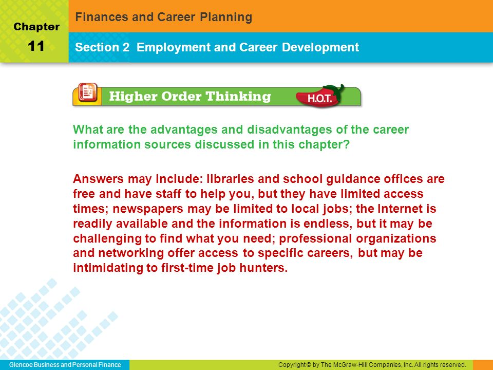 advantages of career planning and development